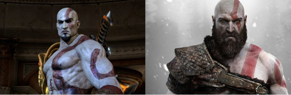 God of War III 2010 VS<br /> God of War 2018